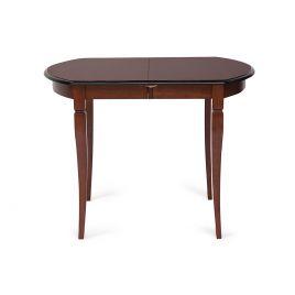 Стол обеденный деревянный раздвижной Modena Тобакко (темный орех)