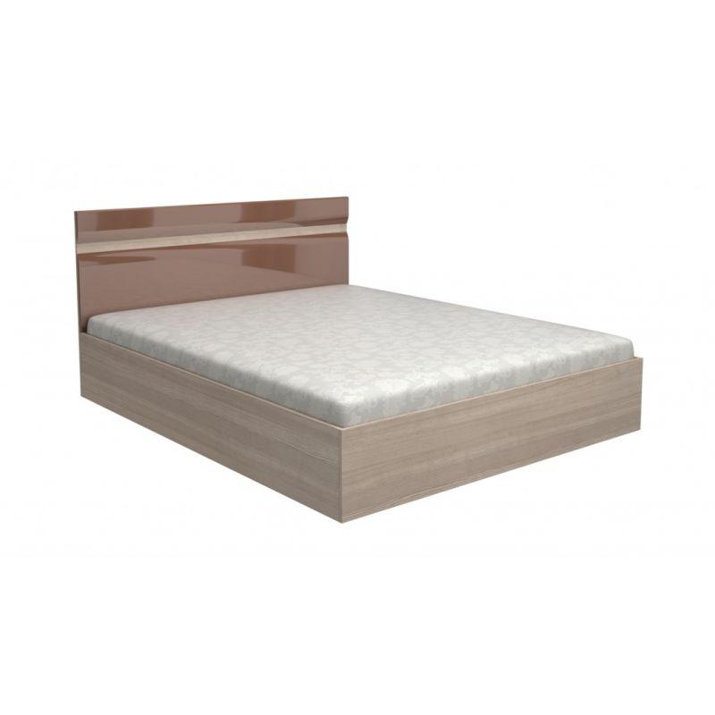 Кровать с под. мех. Ненси 160x200 Ясень светлый - Какао глянец