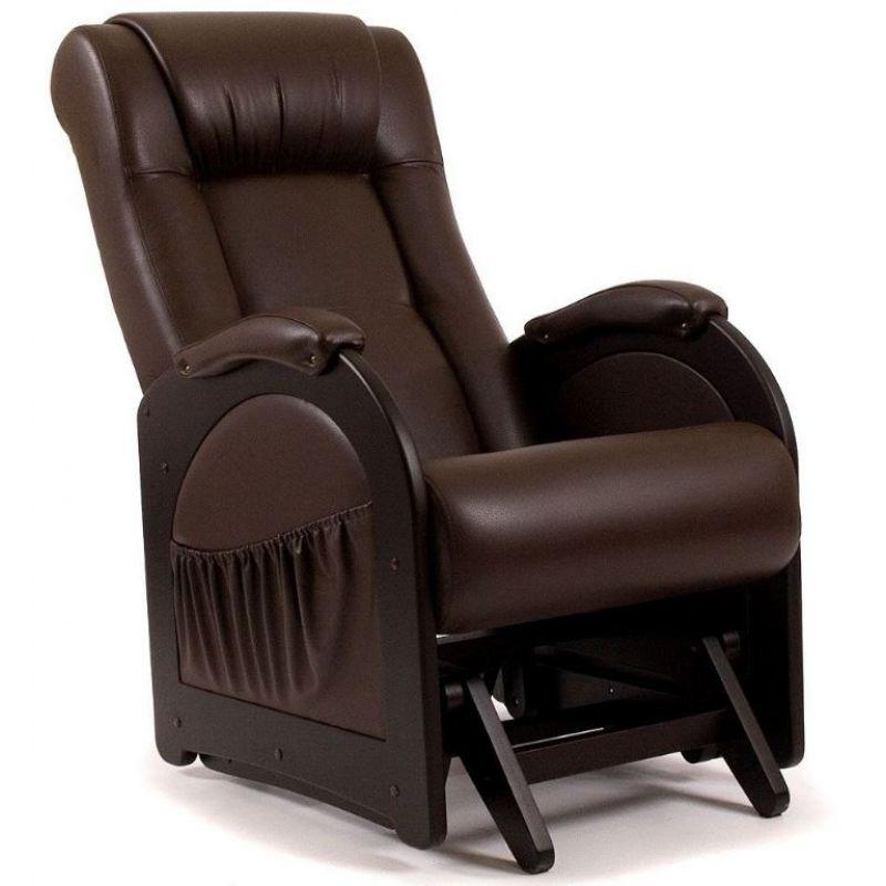 Кресло-качалка глайдер модель 48 (б/л)  венге ( Дунди 108 )