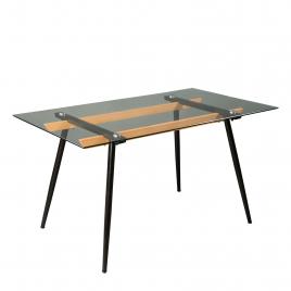Стол для кухни обеденный стеклянный Т-1047 Прозрачный