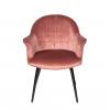 Стул - кресло дизайнерский С-985 Велюр Пепельно-розовый