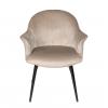 Стул - кресло дизайнерский С-985 Велюр Серо-бежевый