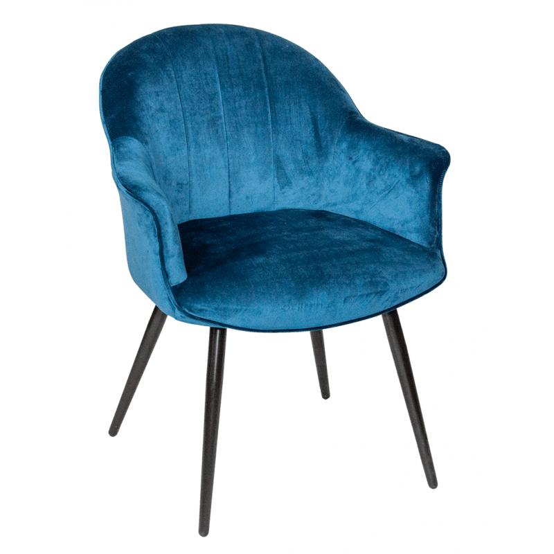 Стул - кресло дизайнерский С-985 Велюр Темно-синий