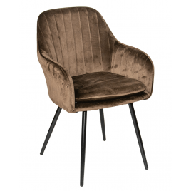 Стул - кресло дизайнерский С-987 Велюр Кофейный..