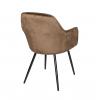 Стул - кресло дизайнерский С-987 Велюр Кофейный