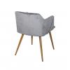 Стул - кресло дизайнерский с мягким сиденьем С-942 Велюр Серый