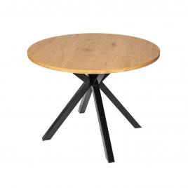 Стол деревянный круглый обеденный DT636 под дерево