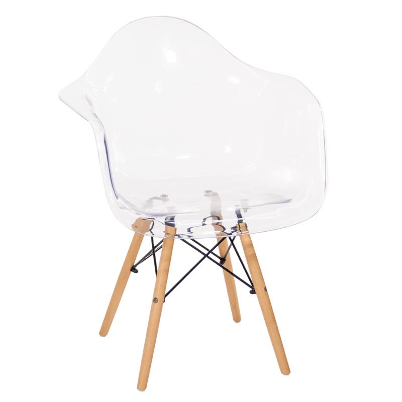 Кресло пластиковое GH-8525 «Синди» (Прозрачный)