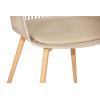 Стул пластиковый дизайнерский с мягким сиденьем SL-7047DG Бежевый