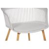 Стул пластиковый дизайнерский с мягким сиденьем SL-7047DZ Белый