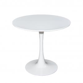 Стол для кухни обеденный дизайнерский круглый «SQT-1» 800 Белый