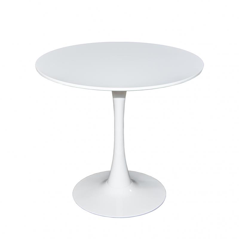 Стол для кухни обеденный дизайнерский круглый «SQT-1» 1000 Белый
