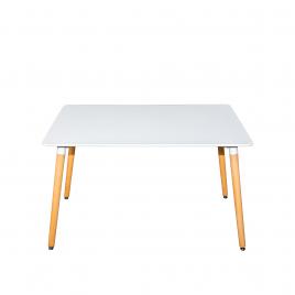 Стол для кухни обеденный деревянный прямоугольный «CindySQT-8» Белый