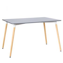 Стол для кухни обеденный прямоугольный Cindy «SQT-8» (80) Серый