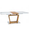 Стол обеденный стеклянный раскладной ТD-1758 Белый