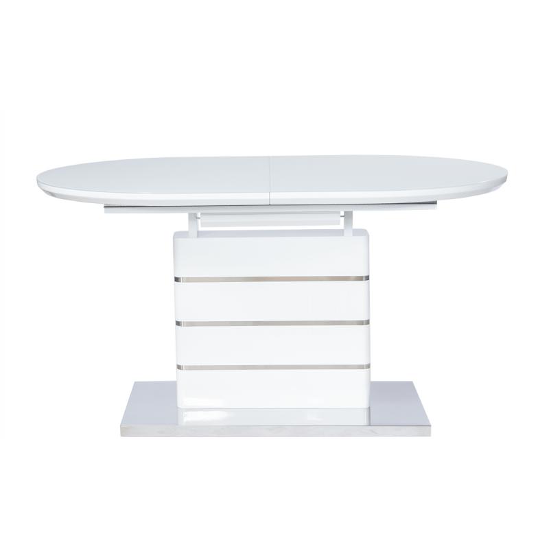 Стол обеденный стеклянный раскладной Овал ТD-1770 Белый