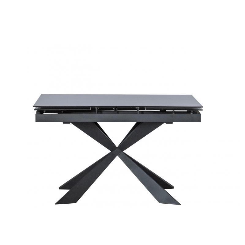 Стол обеденный стеклянный раскладной DT661 Графит темный