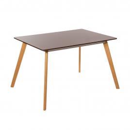 Стол для кухни обеденный деревянный прямоугольный «TulipSL-693» Шоколадный