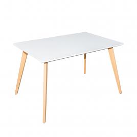 Стол для кухни обеденный деревянный прямоугольный «TulipSL-693» Белый