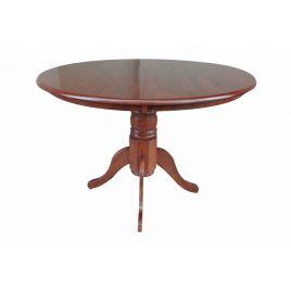 Стол для кухни обеденный деревянный круглый Hv Coco Вишня античная
