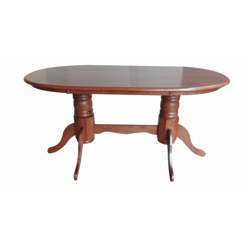Стол для кухни обеденный деревянный овальный Hv-23 Вишня античная
