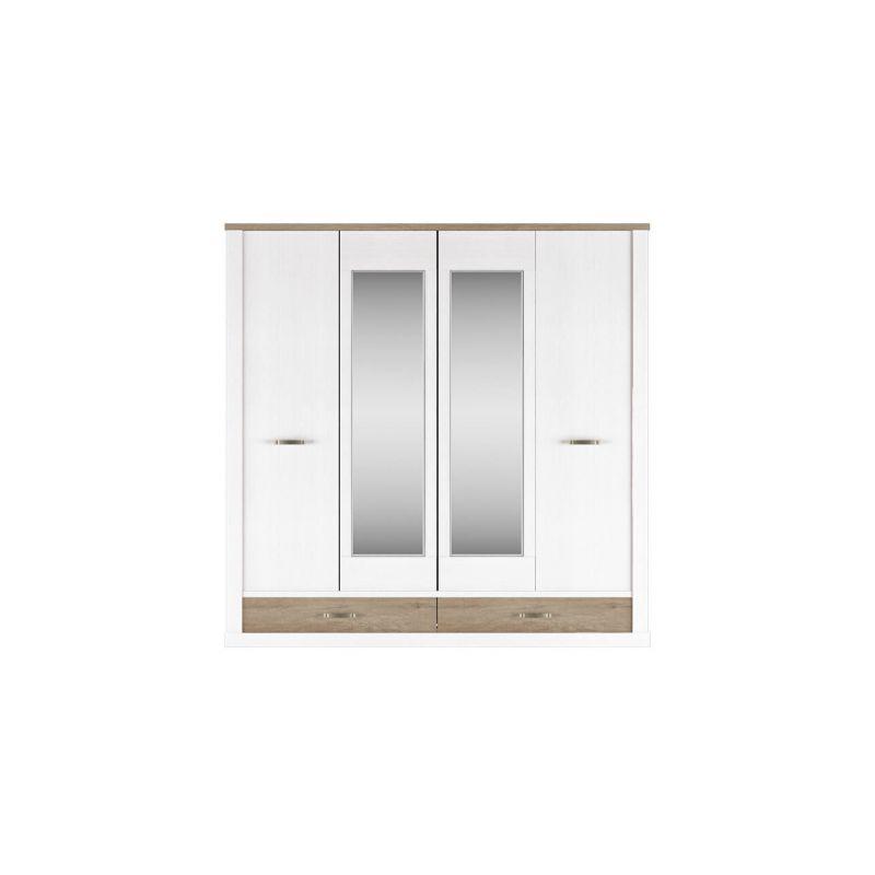Четырехстворчатый шкаф для одежды с зеркалом Прованс 4DG2S Z