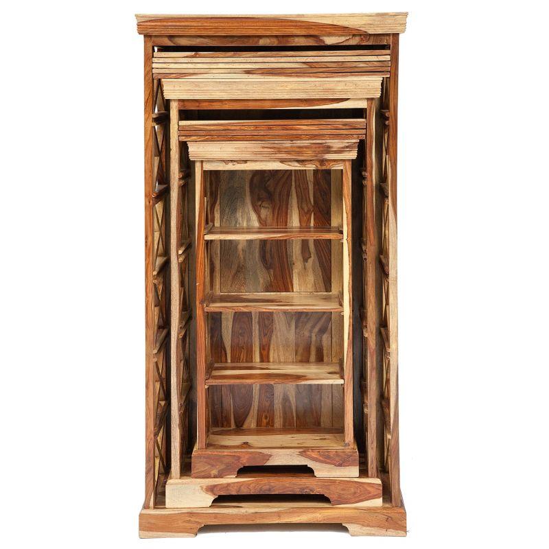"Шкафы для книг комплект 3 шт. ""Бомбей"" палисандр"