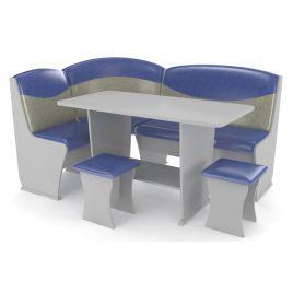 Кухонный уголок КОНСУЛ 2 серый/сине-серый перламутр