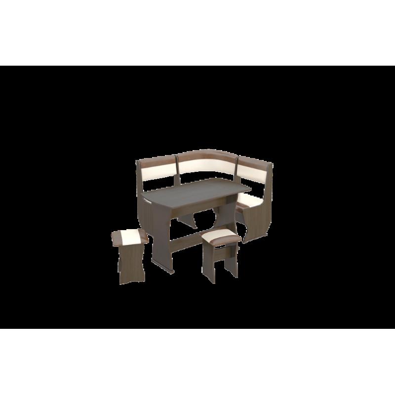 Кухонный уголок «Уют-1 К» Мини Люкс «Санчо»/Коричневый