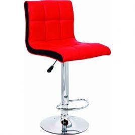 Стул барный Олимп WX-2318B Красно-чёрный
