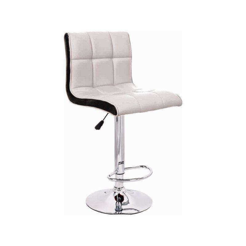 Стул барный Олимп WX-2318B Бело-чёрный
