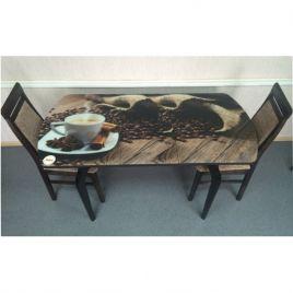 Стол для кухни обеденный стеклянный Грация Кофе Венге