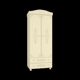Шкаф распашной для одежды «Ассоль Плюс» Модуль АС-2 Ваниль для спальни и детской