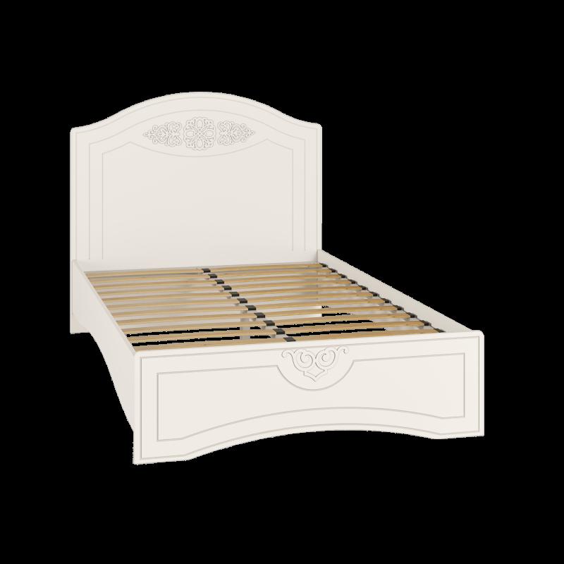 Кровать полутороспальная с ламелями Ассоль АС-111К Белый