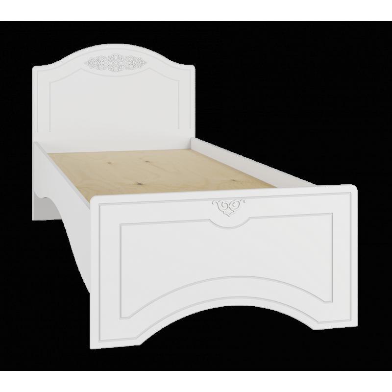 Кровать односпальная с основанием Ассоль Модуль АС-26 Белый