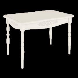 Стол обеденный деревянный кухонный Ассоль Модуль АС-31 Белый
