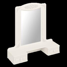 Полка с зеркалом Модуль АС-38 Ассоль Белый
