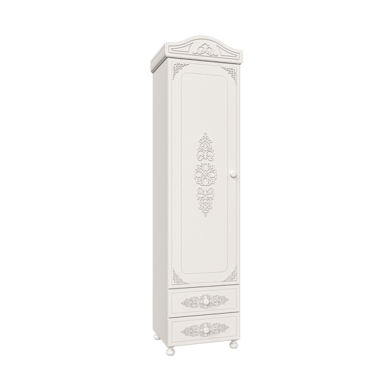 Шкаф - пенал распашной «Ассоль» Модуль АС-1 Белый для спальни