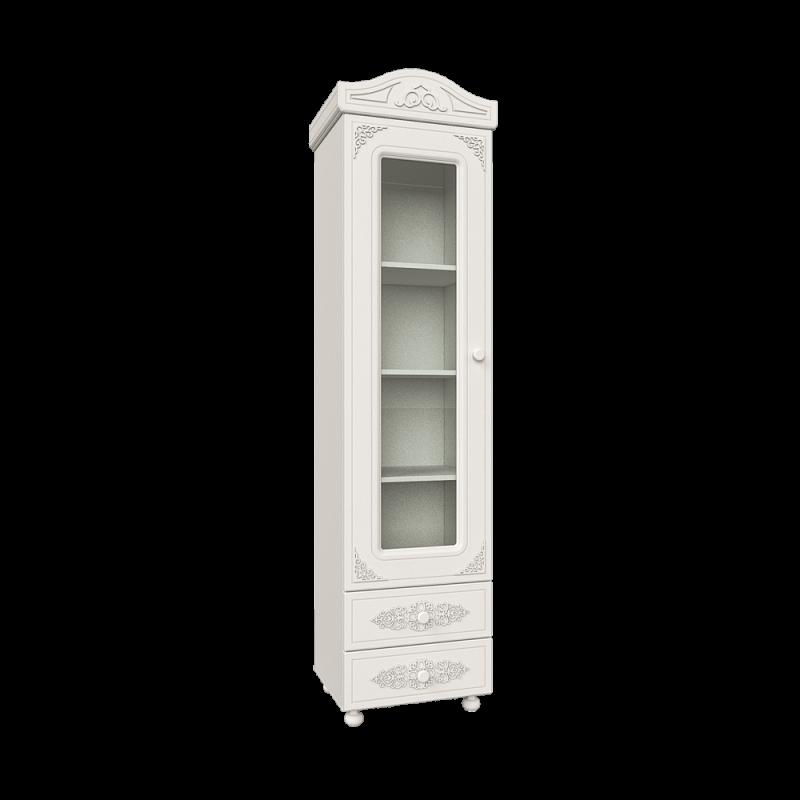 Пенал - витрина для гостиной АС-1 «Ассоль» Белый