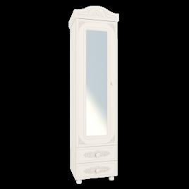 Шкаф - пенал распашной с зеркалом «Ассоль» АС-1 Белый для спальни