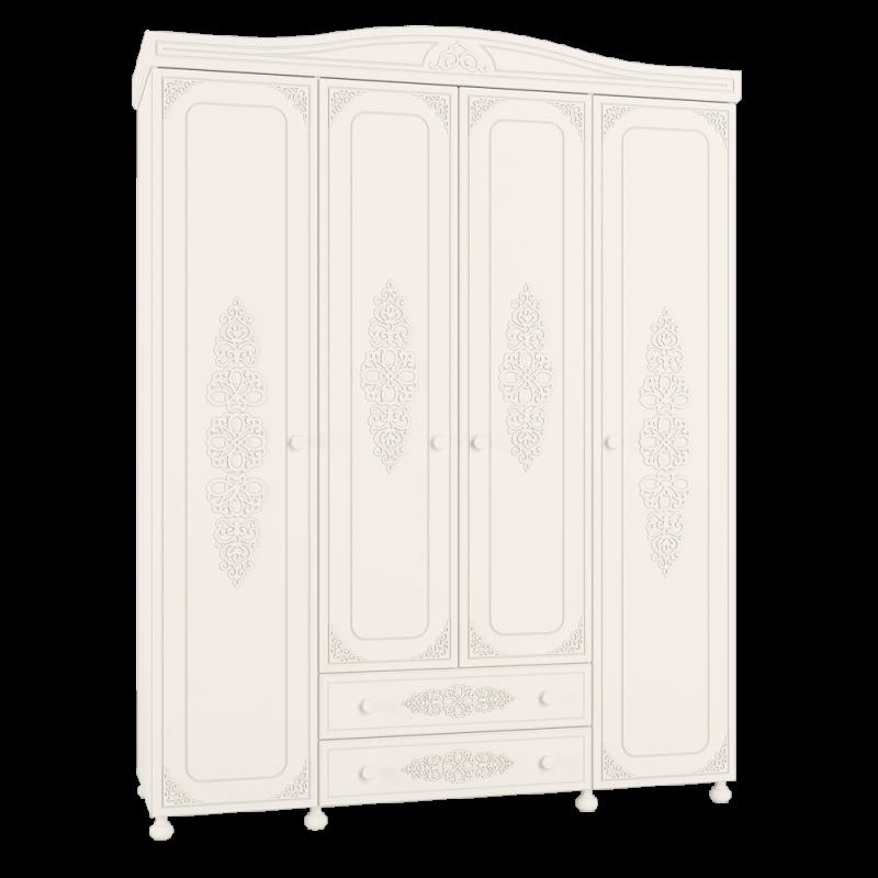 Шкаф четырехстворчатый распашной для спальни «Ассоль» АС-28 Белый
