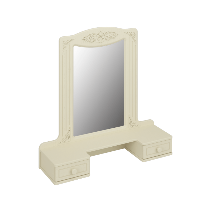Полка с зеркалом «Ассоль Плюс» Модуль АС-38 Ваниль
