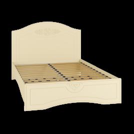 Кровать двуспальная с ламелями «Ассоль Плюс» АС-112К Ваниль
