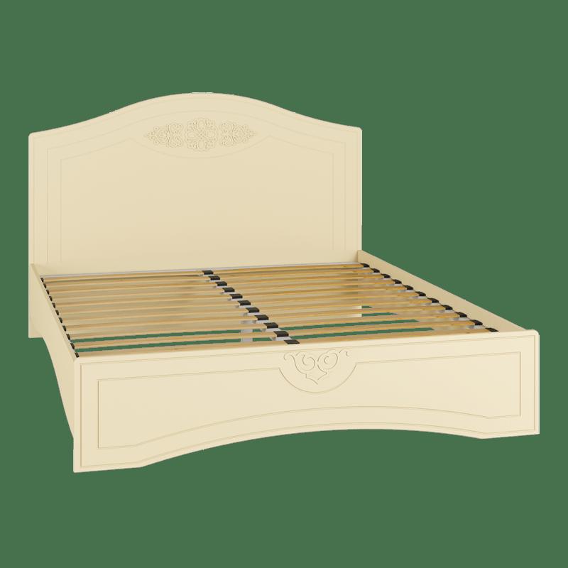 Кровать двуспальная с ламелями «Ассоль Плюс» АС-113К Ваниль