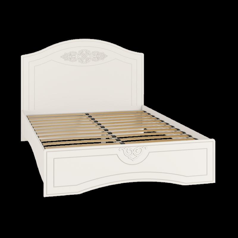 Кровать двуспальная с ламелями Ассоль АС-112К Белый
