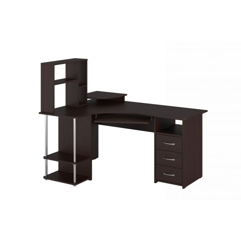 Стол компьютерный угловой с надставкой 237 Венге