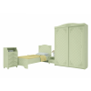 Шкаф-купе «Соня» Модуль СО-12К  Мята/салат шагрень для спальни