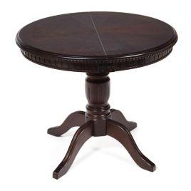 Стол деревянный обеденный круглый раздвижной Анжелика-0 Темный орех