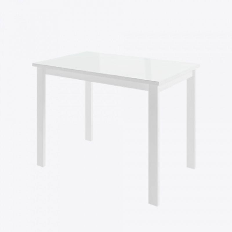 Стол кухонный обеденный стеклянный раздвижной Габби Белый