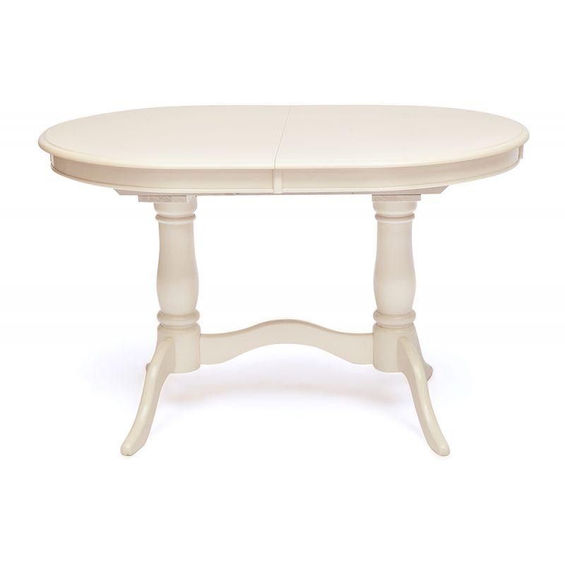 Стол деревянный обеденный раздвижной Eva Белый ( Молочный )